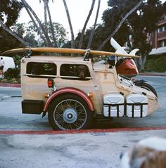 squarestate: C Street Ventura, California (via TumbleOn) Scrambler Motorcycle, Bobber, Motorcycle Campers, Motorcycle Adventure, Bicycle Sidecar, E Biker, Side Car, 3rd Wheel, Cool Motorcycles