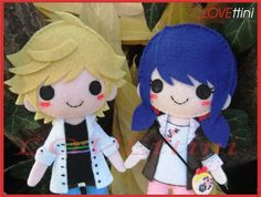 Miraculous Ladybug ミラクルス・レディバグ Adrien , Chat noir ,Lady bug and Marinette Felt Crafts Diy, Felt Diy, Fun Crafts, Lady Bug, Ladybug Und Cat Noir, Miraculous Characters, Anime Crafts, Cute Patches, Ladybug Party