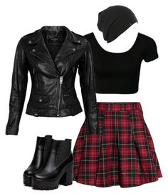 A fashion look from September 2015 featuring shirt top, lambskin jacket and red pleated skirt. Browse and shop related looks. Teenage Girl Outfits, Teen Fashion Outfits, Edgy Outfits, Cute Casual Outfits, Modern Outfits, Retro Outfits, Outfits For Teens, Riverdale Fashion, Cute Skirt Outfits
