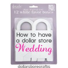 How to Have a Dollar Store Wedding Pinner Note: I have done things similar to this with my own wedding 11 years ago. People at our church said our wedding was very beautiful and elegant....and the entire thing only cost $2000 (that included my dress with alterations, entire reception, a bridal tea with gifts for all of my attendants). It CAN be done.