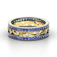 platinum, gold, sapphire and diamond.