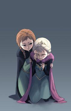 Anna: No matter what Elsa, I'm here for you. Frozen Fan Art, Frozen And Tangled, Frozen Elsa And Anna, Disney Frozen Elsa, Disney Princess Drawings, Disney Princess Art, Disney Fan Art, Disney And Dreamworks, Disney Pixar