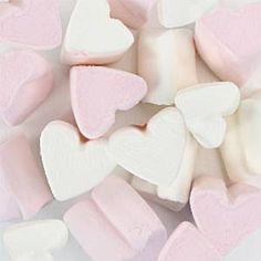 Pink & White Marshmallow Hearts Bulk Bag