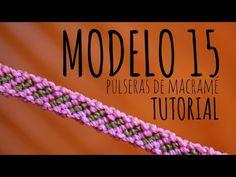 Modelo 15 / Pulseras de macramé ♥ Más