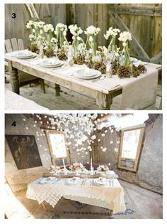 winter tablescapes