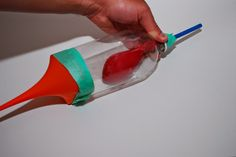 Build a model of a lung to experiment how air pressure is used when breathing.