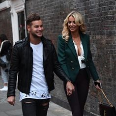 Love Island Stars Chris Hughes and Olivia Atwood seen shopping on Brick Lane in London