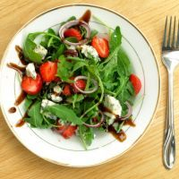 Strawberry Spinach Salad with Balsamic Dressing