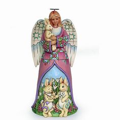 Jim Shore 2014 Easter Angel w/Bunnies ~ Signs of Spring ~ 4037678