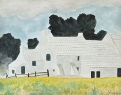 Léon Spilliaert (Belgian, 1881-1946), De witte hoeve [The White Farm], 1930. Watercolour.