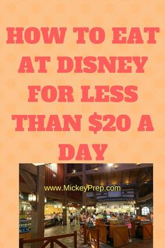 How to Eat at Disney for Less Than $20 A Day. Eat cheap at Disney world. budget Disney vacation food for a family. Disney tips and tricks.