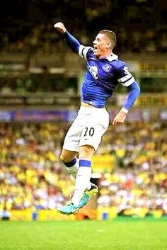 Ross Barkley after he scored Everton's first league goal of the 2013/14 season in a 2-2 draw at Norwich