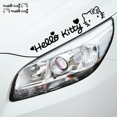 Lovely Hello Kitty Car Stickers Car Light or car hood KT cat Car styling Accessories – World of Hello Kitty Merchandise Hello Kitty Merchandise, Hello Kitty Car, Car Lights, Car Stickers, Fashion Accessories, Free Shipping, Cats, Kawaii, Anime