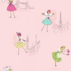 Girly - Hoopla Vintage Fairies Wallpaper.