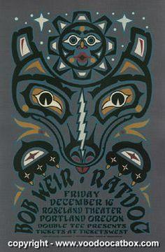 2005 Bob Weir & Ratdog Silkscreen Concert Poster by Gary Houston | JoJo's Posters
