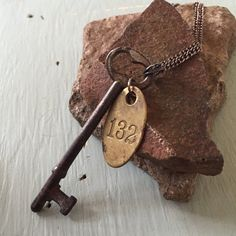 Vintage Skeleton Key Necklace-Steampunk by RetroRosita on Etsy