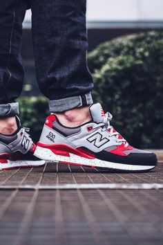 NEW BALANCE M530 90s Running Leather Grey × Red