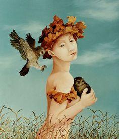 Suzan Visser's - Boy with owls