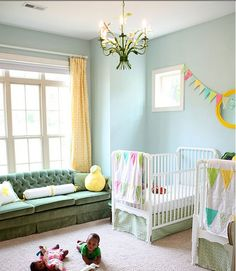 Pictures of baby rooms neutral baby rooms boy girl shared nursery ideas nursery neutral baby gender . Twin Nursery Gender Neutral, Baby Room Neutral, Nursery Twins, Nursery Room, Nursery Decor, Nursery Ideas, Elephant Nursery, Circus Nursery, Sky Nursery