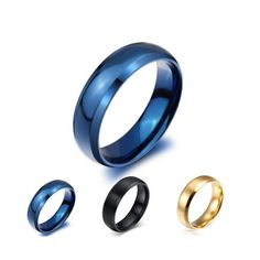 [Visit to Buy] Vintage party rings for women and men blue / gold / black anel wedding jewelry wholesale #Advertisement
