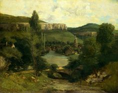 Gustave Courbet (French, 1819–1877), View of Ornans, probably mid-1850s. Oil on canvas, 28 ¾ x 36 ¼ in. (73 x 92.1 cm).