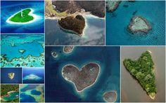 islas con forma de  corazón