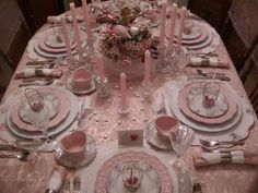 Nice family valentines table setting...