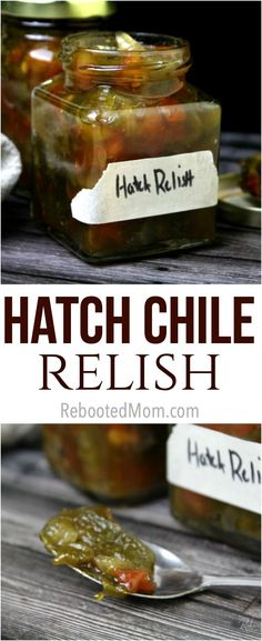 Use up an abundance of Hatch chiles to cook up this spicy Hatch Chile relish with just a few simple ingredients. It's great on burgers, steak and chicken! Hatch Green Chili Recipe, Green Chili Recipes, Hatch Chili, Hatch Chile Recipe, Mexican Dishes, Mexican Food Recipes, Steaks, Hatch Peppers, Homemade Burgers