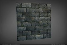 A cracked brick wall from http://www.GameTextures.com