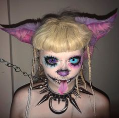 Pastel Grunge, Pastel Goth, Club Makeup, Drawing Expressions, Dark Makeup, All Black Outfit, Lip Art, Pretty Makeup, Edgy Outfits