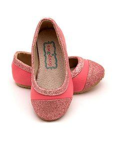 Look at this #zulilyfind! Pink Glitter Tiptoe Flat by foxpaws #zulilyfinds