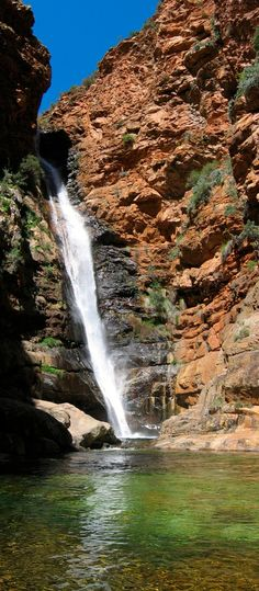 Rust-en-Vrede Waterfall, Oudtshoorn Cape Town South Africa, East Africa, South African Holidays, Places Around The World, Around The Worlds, World Photography, Places Of Interest, Middle East, Places To See