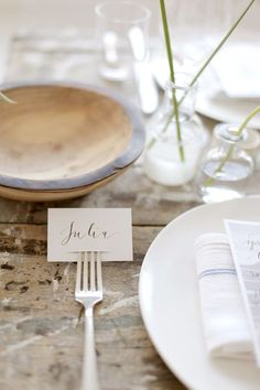 """Largely due to The Yellow Table 's dinner party, I've recently added """"attend a Manhattan soiree"""" to my ever growing bucket list. And if said Manhattan dinner party is half as lovely as this one, I'l. Wedding Table, Diy Wedding, Rustic Wedding, Style Me Pretty Living, Yellow Table, Wedding Decorations, Table Decorations, Menu Cards, Wedding Designs"""