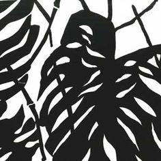 keepsakequilting.com tropical leaf black white fabric