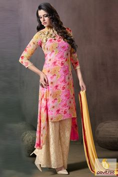 Palazzo Style Salwar Dresses for Long Women.