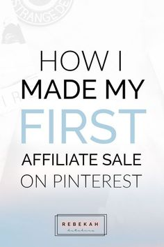 Check out these affiliate marketing tips for beginners who want to make money online. Learn about programs you can join and how you can make passive income by pinning your affiliate links on Pinterest. If you're a blogger or online business owner interested in earning money with affiliate marketing, click through for advice and ideas! #entrepreneur #startup #followback