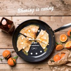 Crêpes suzette à la mandarine  Our seasonal variety of this classic French recipe is made with  mandarines, Cointreau and lots of looooove <3
