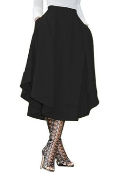 Black Making Waves High Waist Midi Skirt – Creamtoe B&R Pleated Midi Skirt, Dress Skirt, High Waisted Skirt, Pencil Skirts, Women's Skirts, Casual Skirts, Long Skirts, Cheap Skirts, Winter Skirt