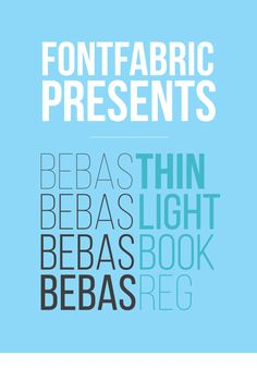 Free Font Of The Day : Bebas Neue