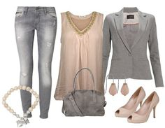 Soft grey - Casual Outfit - stylefruits.nl