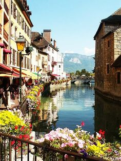 The French Alps - Annency, France  One of my favorite European cities. Tranquil and beautiful. They speak very little English there.