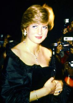 March 9, 1981: Prince Charles accompanying Lady Diana Spencer in making her first official appearance at a gala evening at Goldsmith's Hall to raise funds for the Royal Opera House in London. | Glen Harvey Copyright by the Waxbitch®, via Flickr