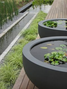 Rill and water bowls (do Rae Wilkinson Design Ltd)