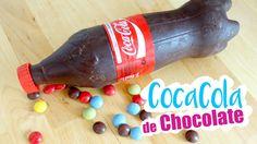 COMO HACER UNA COCACOLA DE CHOCOLATE I DIY sorpresa para fiestas ♥ Qué c...