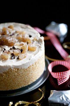 Cheesecake raw à la crème de marrons - Cuisine en scène