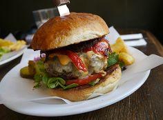 Hoxton's Ginger Pig Café serves up cracking burgers (before 6pm).