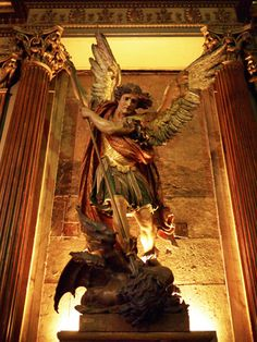In south American catholic churches, they use wooden statues of saints and angels. After spending almost an hour within the walls of this beautiful church