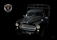 Peugeot 403 Camion in black