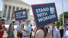 The Supreme Court ruled 5-4 that states may not force public employees to pay agency fees to unions of which they are not a member.