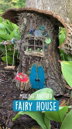 Fairy Garden Pots, Fairy Garden Furniture, Fairy Garden Houses, Garden Art, Fairy House Crafts, Fairies Garden, Gnome Garden, Fairy Tree Houses, Fairy Village